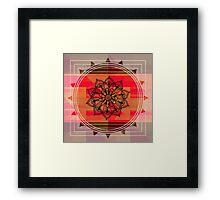 Zentangle on Red Framed Print