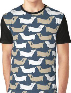 dachshund - navy and tan Graphic T-Shirt