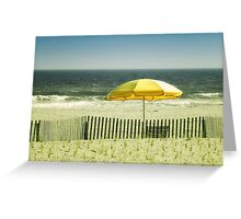 Sitting By The Shore Greeting Card