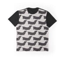 dachshund - black and grey Graphic T-Shirt