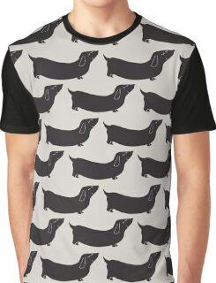 dachshund - black and grey Graphic T-Shirt