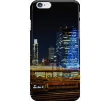 Night Across the Train Yard iPhone Case/Skin