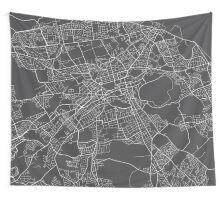 Edinburg Map, Scotland - Gray Wall Tapestry