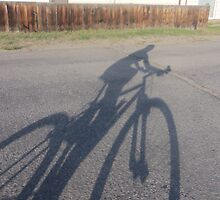 In the Shadows....a bike by kendrabrecka