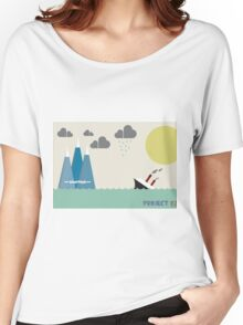 Titanic on sea Women's Relaxed Fit T-Shirt