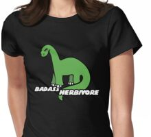 Badass Herbavore Womens Fitted T-Shirt
