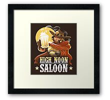 High Noon Saloon Framed Print