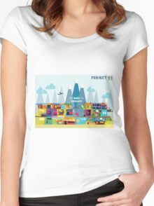 Colorful Home Women's Fitted Scoop T-Shirt