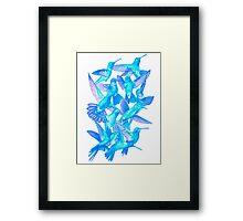 Hummingbird Dance in Sharpie (IceBird Edition) Framed Print