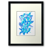 Hummingbird Dance in Sharpie (IceBird Edition) Framed Print