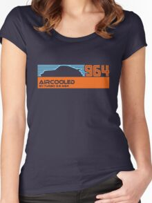 964 aircooled (blue/org) Women's Fitted Scoop T-Shirt