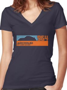 964 aircooled (blue/org) Women's Fitted V-Neck T-Shirt