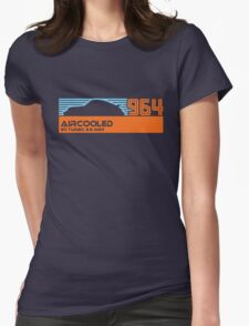 964 aircooled (blue/org) Womens Fitted T-Shirt
