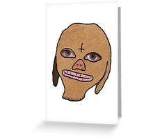 eggsy's mask - slouch Greeting Card