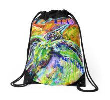 bitter sweet spirit bird Drawstring Bag