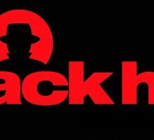 Red BlackHat Decal Logo Sticker