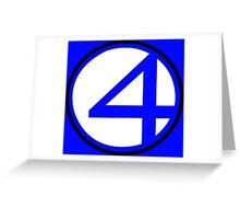 Fantastic 4 Greeting Card