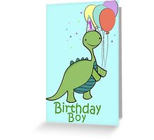 Baby Dinosaur Birthday Boy Greeting Card
