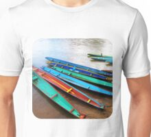 Boats on the Riverbank  Unisex T-Shirt