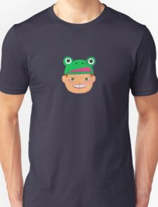 Kids With Animal Beanie - Frog Unisex T-Shirt