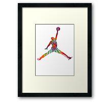 Psychedelic Jump Man Framed Print