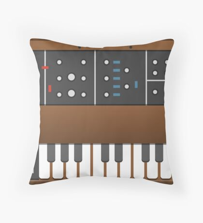 Old school synth Throw Pillow