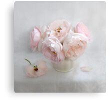 Bouquet of Pastel June Roses #2 Canvas Print