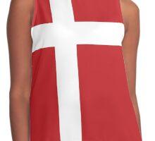 Danish Flag Contrast Tank