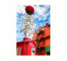 Street Sign in Boston's Little Italy Art Print