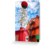 Street Sign in Boston's Little Italy Greeting Card