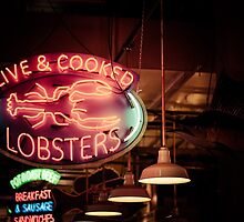 Live and Cooked Lobsters by Christopher Schloegel