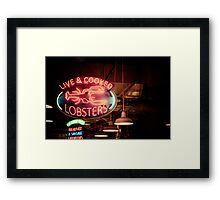 Live and Cooked Lobsters Framed Print