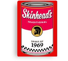 Skinhead Traditional Beer Can Canvas Print