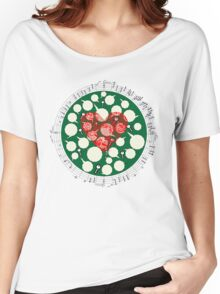 Broken Heart Ticks in Green Women's Relaxed Fit T-Shirt