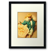 Babs Poses With Roses Framed Print
