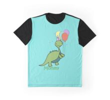 Baby Dinosaur Mommy Graphic T-Shirt