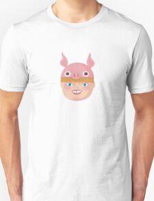 Kids With Animal Beanie - Pig Unisex T-Shirt
