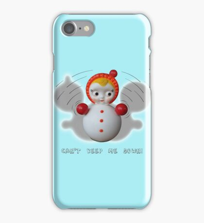 Can't Keep Me Down!  Roly-poly doll as Symbol of Resilience iPhone Case/Skin