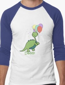 Baby Dinosaur Daddy Men's Baseball ¾ T-Shirt