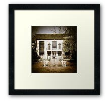 The Old Place Down the Road Framed Print