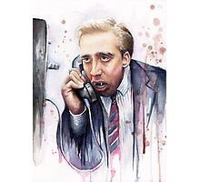 Nicolas Cage | A Vampire's Kiss | Watercolor Painting Photographic Print