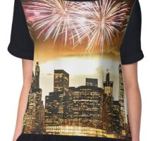 nyc with fireworks Chiffon Top