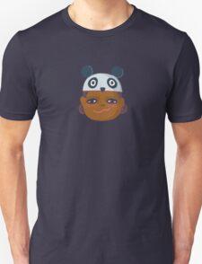 Kids With Animal Beanie - Panda Unisex T-Shirt