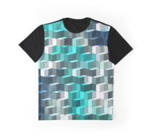 Abstraction #024 Blue and White Blocks Graphic T-Shirt