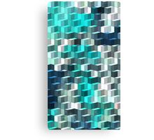 Abstraction #024 Blue and White Blocks Canvas Print