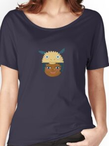Kids With Animal Beanie - Sheep Women's Relaxed Fit T-Shirt