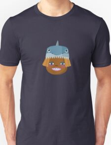 Kids With Animal Beanie - Shark Unisex T-Shirt
