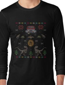 Ugly Jurassic Christmas Sweater Long Sleeve T-Shirt
