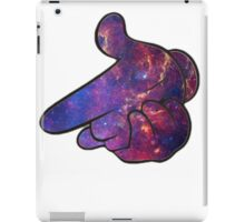 Mickey Hands Galaxy Gun iPad Case/Skin