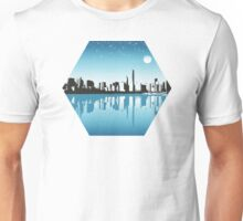 Cityscape, Skyline, Metro, Night Unisex T-Shirt